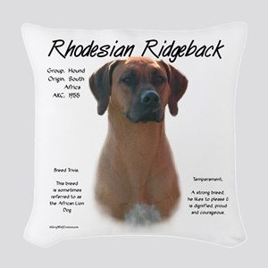 Rhodesian Ridgeback Woven Throw Pillow