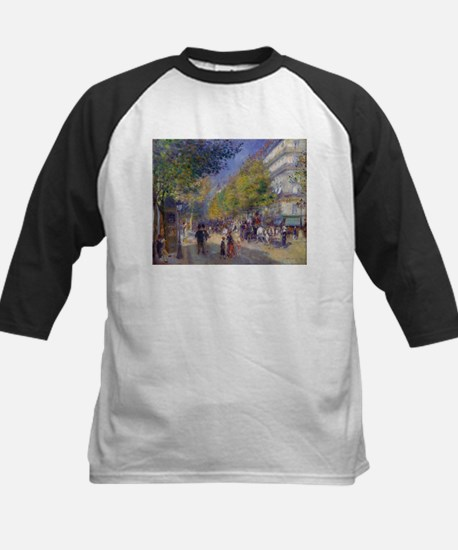 Les Grands Boulevards by Renoir Baseball Jersey