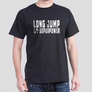 Long Jump Is My Superpower Dark T-Shirt