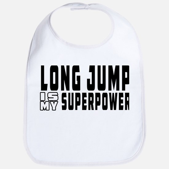 Long Jump Is My Superpower Bib