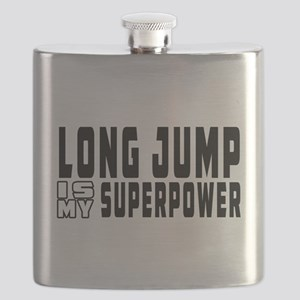 Long Jump Is My Superpower Flask