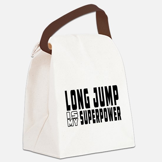 Long Jump Is My Superpower Canvas Lunch Bag