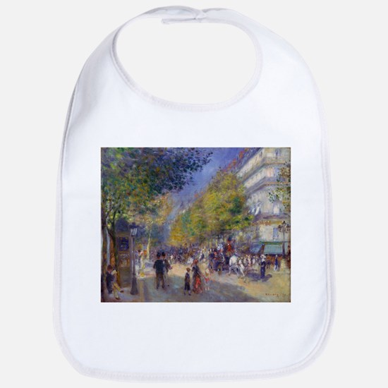Les Grands Boulevards by Renoir Baby Bib