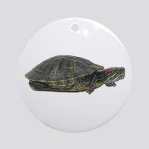 Red Ear Slider Photo Ornament (Round)