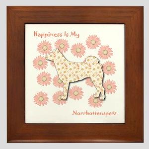 Norrbottenspets Happiness Framed Tile