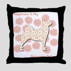Buhund Happiness Throw Pillow