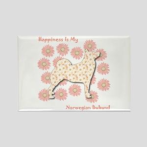 Buhund Happiness Rectangle Magnet