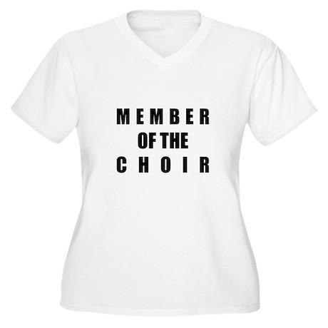 Member of the Choir Women's Plus Size V-Neck T-Shi