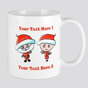 Santa Couple and Text Mugs