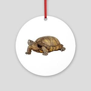 Box Turtle Ornament (Round)