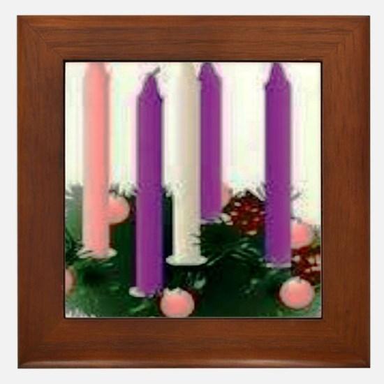 Advent Candles Framed Tile