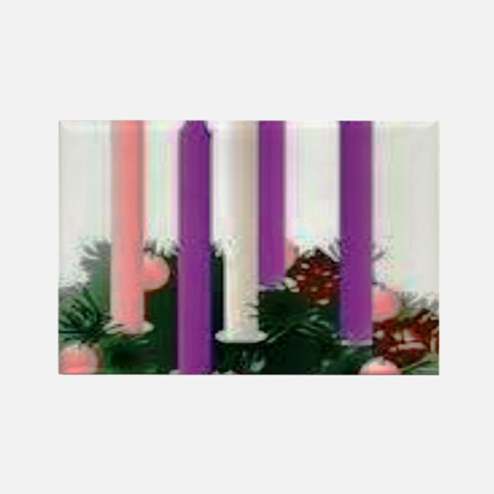 Advent Candles Rectangle Magnet