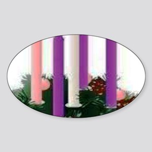 Advent Candles Sticker (Oval)
