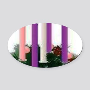 Advent Candles Oval Car Magnet