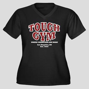 Tough Gym Women's Plus Size V-Neck Dark T-Shirt