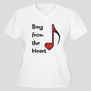Sing from the Heart Women's Plus Size V-Neck T-Shi