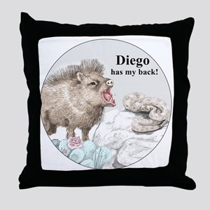 Diego has my back! Throw Pillow