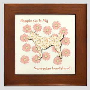 Lundehund Happiness Framed Tile