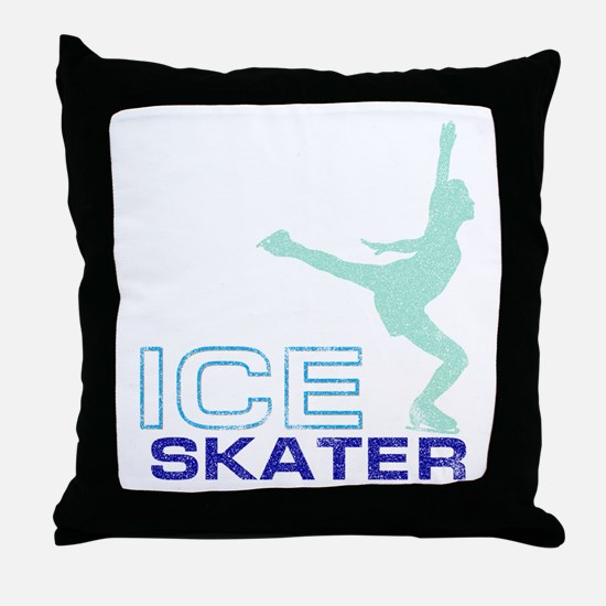Ice Skating Collage Throw Pillow