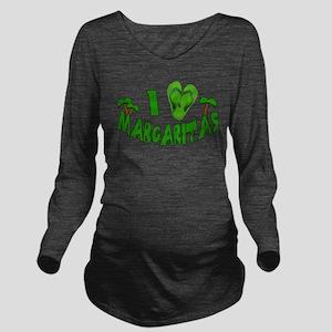 I Love Margaritas Long Sleeve Maternity T-Shirt