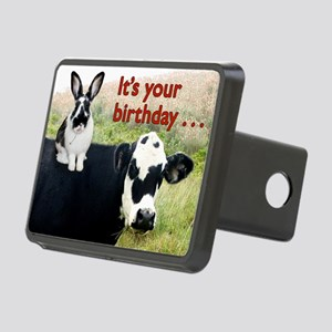 Bunny  Cow Birthday Card Rectangular Hitch Cover