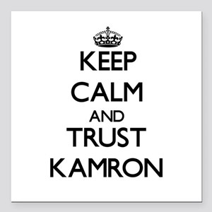"""Keep Calm and TRUST Kamron Square Car Magnet 3"""" x"""