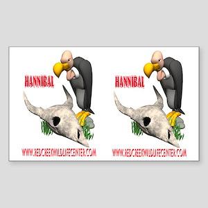 vulture cartoon Rectangle Sticker