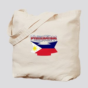 Flag philippines ribbon Tote Bag