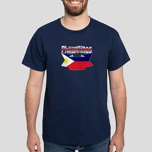 Flag philippines ribbon Dark T-Shirt