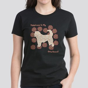 Otterhound Happiness Women's Dark T-Shirt