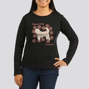 Otterhound Happiness Women's Long Sleeve Dark T-Sh