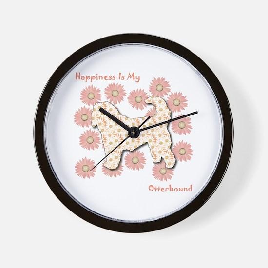 Otterhound Happiness Wall Clock