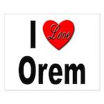 I Love Orem Small Poster