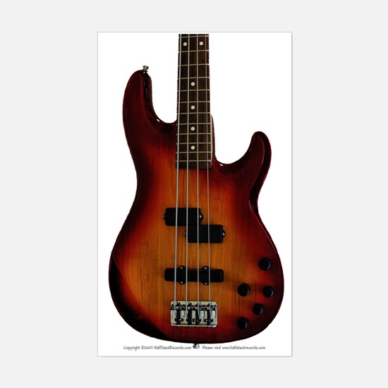 """Darkness"" Bass Guitar Rectangle Decal"