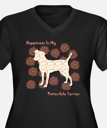 Patterdale Happiness Women's Plus Size V-Neck Dark