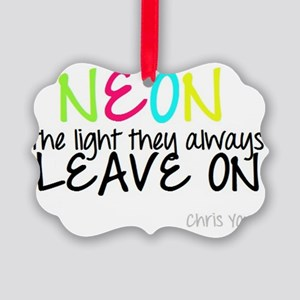 Neon Picture Ornament