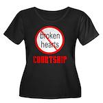 COURTSHIP Women's Plus Size Scoop Neck Dark T-Shir