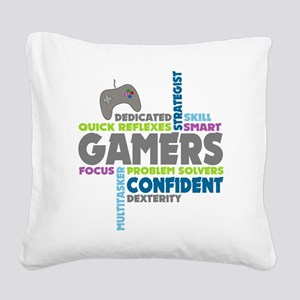 Gamers Square Canvas Pillow
