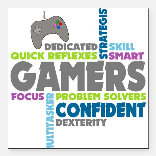 "Gamers Square Car Magnet 3"" x 3"""
