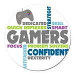 Gamers Round Car Magnet