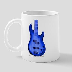 """""""BrightBlue"""" Bass Guitar Mug"""