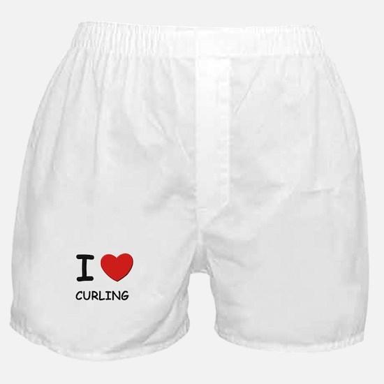 I love curling  Boxer Shorts