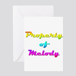 Property Of Melody Female Greeting Card
