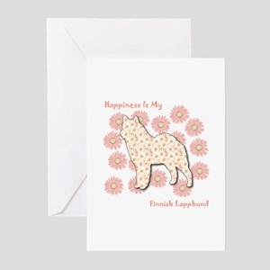 Lapphund Happiness Greeting Cards (Pk of 10)