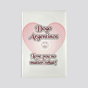 Dogo Love U Rectangle Magnet