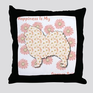 Spitz Happiness Throw Pillow
