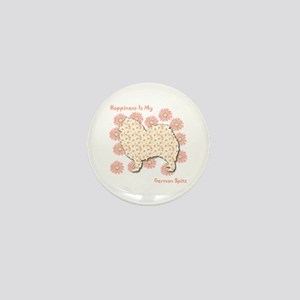 Spitz Happiness Mini Button