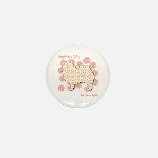 Spitz Happiness Mini Button
