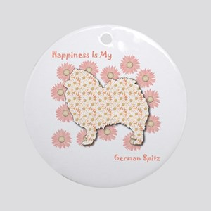 Spitz Happiness Ornament (Round)