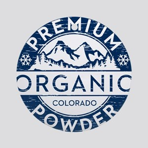 Colorado Powder Round Ornament